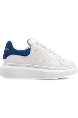 ALEXANDER MCQUEEN | Niña Sneakers De Piel Con Cordones /azul 27