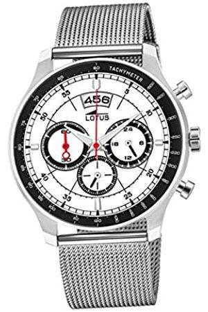 Lotus Reloj Cronógrafo para Hombre de Cuarzo con Correa en Acero Inoxidable 10138/1