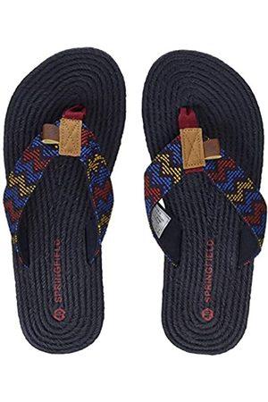 Springfield Yute, Sandalias Flip-Flop Hombre, (Blue)