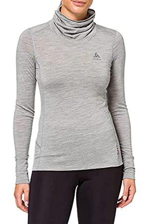 Odlo Camiseta Interior para Mujer SUW Top Turtle Neck L/S Natural 100% Mer, Jaspeado