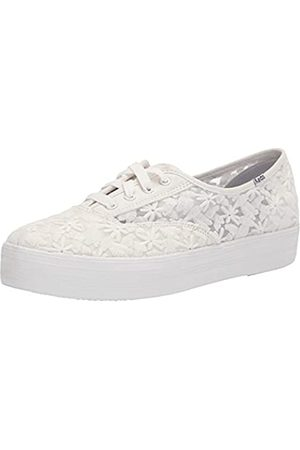 Keds Triple CVO Floral Embroidery, Zapatillas Mujer, White