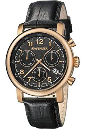 WENGER Reloj Cronógrafo para Hombre de Cuarzo con Correa en Cuero 01.1043.107