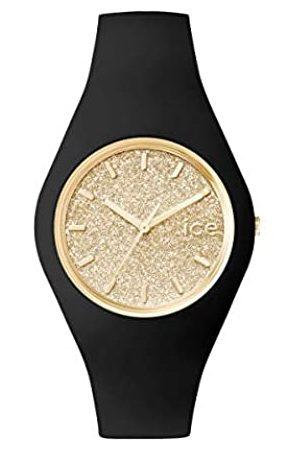 Ice-Watch ICE Glitter Black Gold - Reloj para Mujer con Correa de Silicona