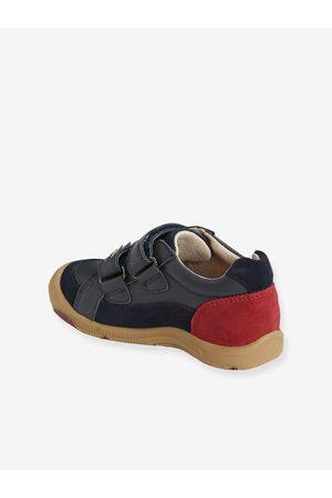 Vertbaudet Zapatos de piel para niño colección especial autonomía oscuro liso con motivos
