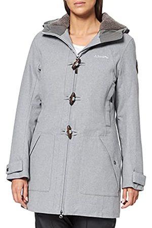 Schöffel Bregenz1 - Abrigo de lana impermeable y cortavientos con bonito aspecto jaspeado, cálido chaqueta de invierno con lana natural para mujer, Mujer, 12446