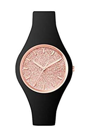 Ice-Watch ICE Glitter Black Rose-Gold - Reloj para Mujer con Correa de Silicona