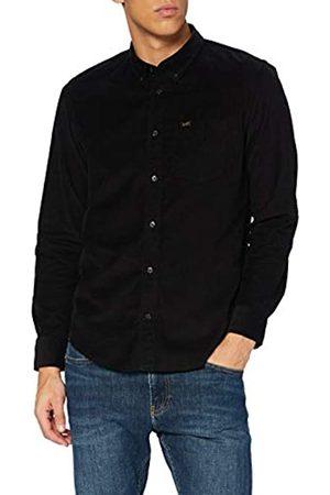 Lee Button Down Camisa con Botones, Black