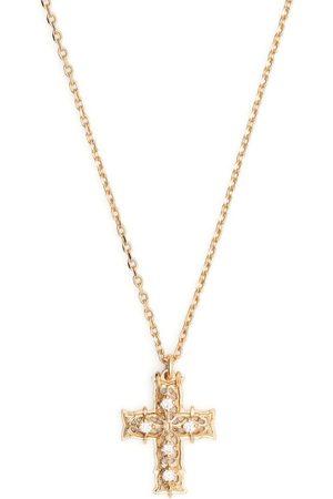 Emanuele Bicocchi Collar con colgante de cruz con diamante