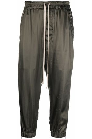 Rick Owens Pantalones de chándal capri con cordones