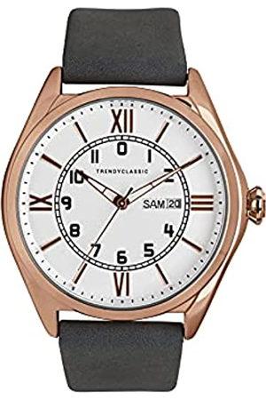 Trendy Classic Reloj Analógico para Hombres de Cuarzo con Correa en Cuero CG1057-03