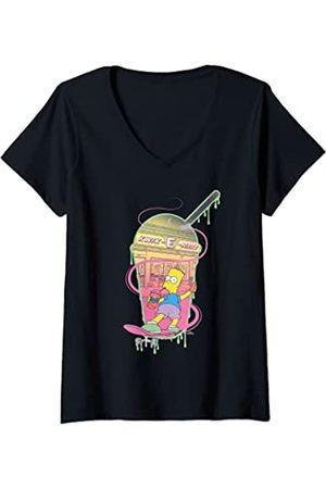 The Simpsons Mujer Bart Simpsons Kwik-E-Mart Squishee Camiseta Cuello V