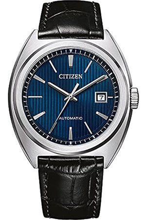 Citizen Reloj Analógico para Hombre de Automático con Correa en Cuero NJ0100-46L
