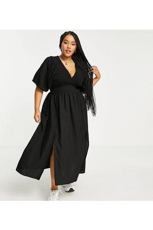 River Island Mujer Casual - Vestido midi con mangas abullonadas de