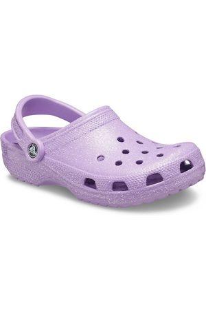 Crocs Zuecos lilas clásicos con acabado de purpurina de -Violeta