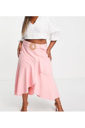 Forever New Falda semilarga color escalonada de (parte de un conjunto)