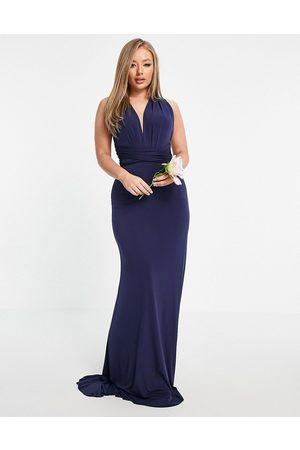 TFNC Mujer De noche - Vestido largo de dama de honor con diseño multiposición en de
