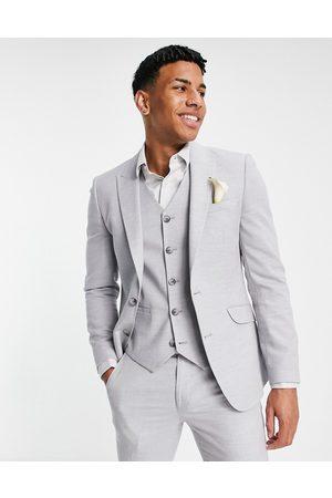 ASOS Hombre Chaquetas - Chaqueta de traje muy ajustada con microtextura de Wedding