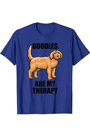 Citas divertidas del cachorro Goldendoodle Doodle Cita irónica del perro Goldendoodles como terapia Camiseta