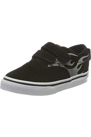 Vans Doheny V-Velcro, Zapatillas Unisex bebé, Suede Flame Black/White