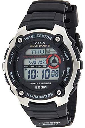 Casio WAVE CEPTOR Reloj Radiocontrolado, para Hombre, con Correa de Resina