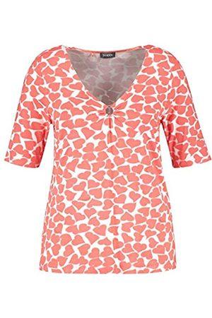 Samoon T-Shirt 1/2 Arm Camiseta 46 para Mujer
