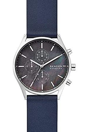 Skagen Reloj Analógico para Hombre de Cuarzo con Correa en Piel Genuina SKW6653
