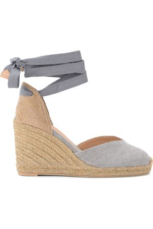 Castañer Chiara wedge sandal in gray canvas and fabric , Mujer, Talla: 40