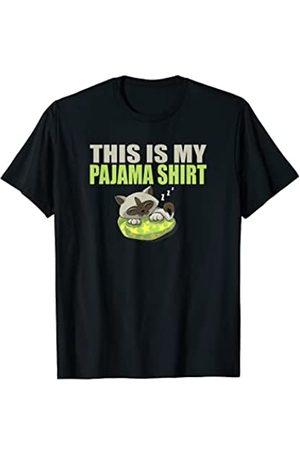This is my Pajama Funny Sleepover Gift PJ Top This is my pijama CAT Funny Sleepover Gift PJ Top Camiseta