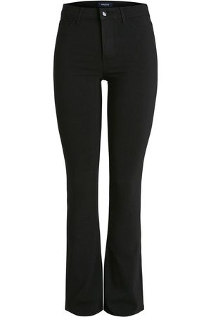 Pieces Trousers Mid waist flared , Mujer, Talla: L