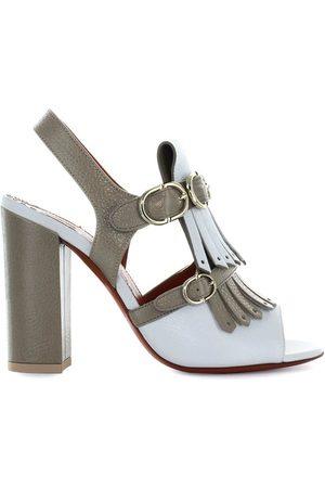 santoni Bicolored Fringe Heeled Sandal , Mujer, Talla: 37 1/2