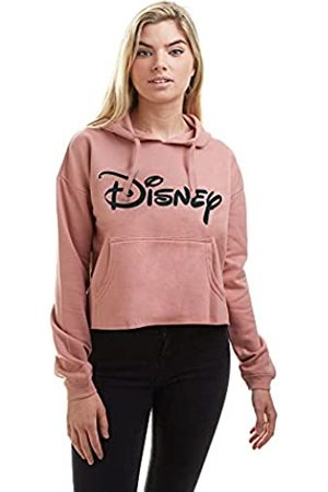 Disney Plain Logo Cropped Hood Sudadera con Capucha
