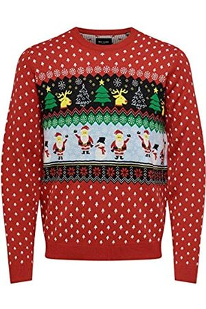 ONLY ONSXMAS 7 Funny Top JAQ Crew Neck Knit Suter Pulver