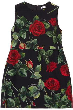 Dolce & Gabbana | Niña Vestido De Viscosa Con Estampado De Rosas 4a