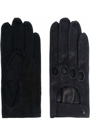Manokhi Cut out-detail suede gloves