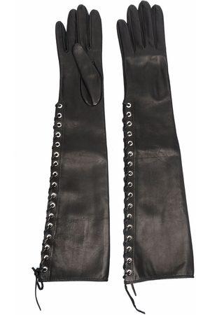 Manokhi Lace-up leather gloves