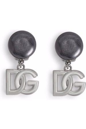 Dolce & Gabbana Pendientes de clip con logo DG