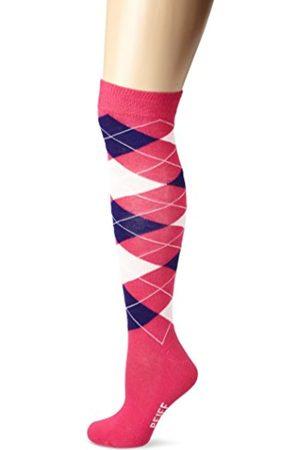 Pfiff Calcetines de equitación, diseño a cuadros, pink/ /lila