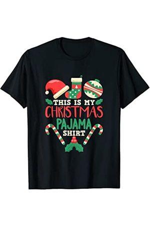 Ropa de pijama navideña divertida Esta es mi camisa de pijama de Navidad Camiseta