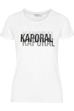 Kaporal Tee shirt à logo strassé , Mujer, Talla: L