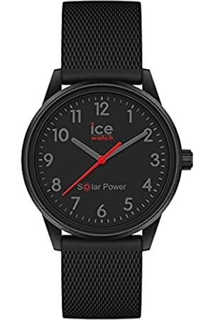 Ice-Watch Ice Solar Power Black Red Numbers Mesh Reloj con Correa de Silicona para Mujer, Small
