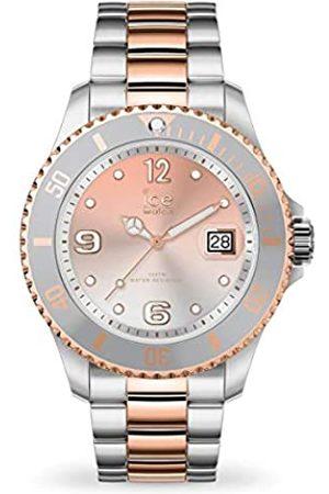 Ice-Watch Ice Steel Silver Sunset Rose-Gold - Reloj Plateado para Mujer con Correa de Metal