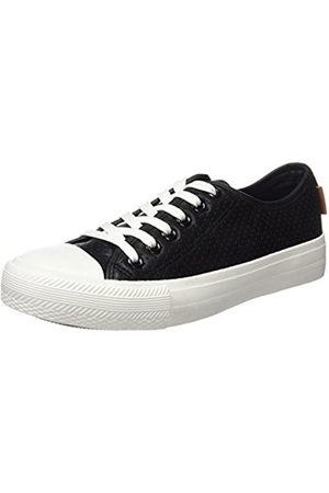 Springfield 2.G.Sneaker Punta Goma y Picados PU, Zapatillas Mujer, (Black)