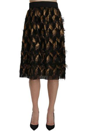 Dolce & Gabbana Fringe Pencil A-line Skirt , Mujer, Talla: 44 IT