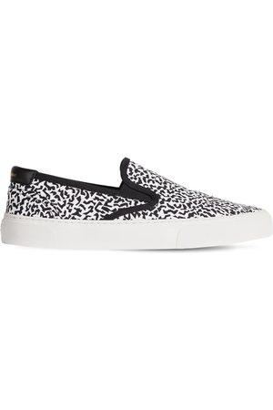 Saint Laurent | Hombre Sneakers Slip-on Venice De Lona De Algodón /negro 43.5