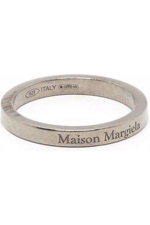 Maison Margiela Hombre Anillos - Anillo con banda y logo