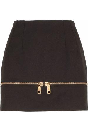 Dolce & Gabbana Falda acampanada con detalle de cremallera