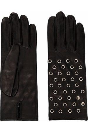 Manokhi Mujer Guantes - Eyelet-detail leather gloves