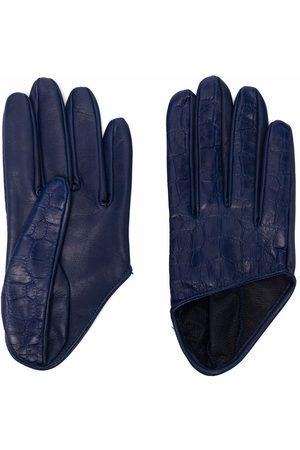 Manokhi Croc-effect leather gloves