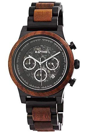 Raptor Reloj Análogo para de los Hombres de Cuarzo con Correa en Madera RA20321-001
