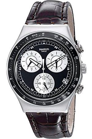 Swatch YCS572 - Reloj cronógrafo de Cuarzo Unisex con Correa de Piel